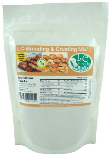 Low Carb Breading & Crusting - LC Foods - All Natural - Gluten Free - Sugar Free - Diabetic Friendly - 8 oz