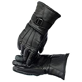 Frackson Riding Gloves Warm Snow and Wind Proof Formal and Casual Winter Gloves for Men Boy Adult Protective Warm Hand…