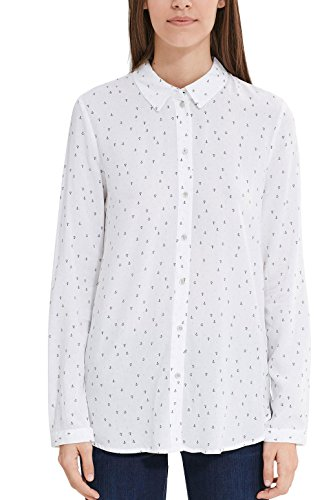 edc by Esprit 027cc1f023, Blusa para Mujer Multicolor (Off White 3)