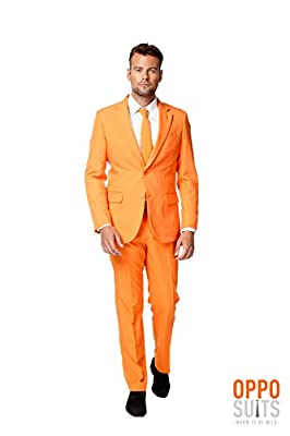OppoSuits Men's The Orange Party Costume Suit