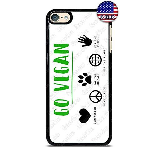 Go Vegan Phone Case Vegetarian Capsule Slim Shockproof Hard PC Custom Case Cover for iPod Touch 7 6 5 4
