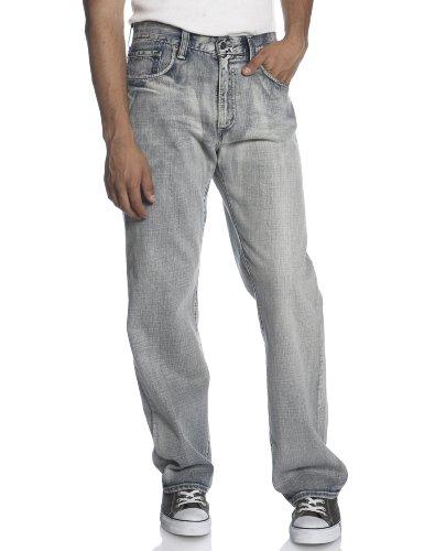 Bleached Straight Leg Jean (Levi's Men's 569 Loose Straight Pocket Treatment Jean, Super Bleached, 34x32)