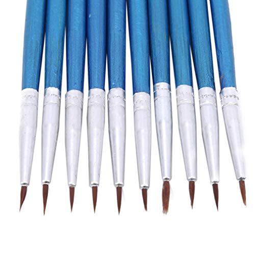 YESMAEA 10 Pcs Paint Brush Pen Watercolor Hook Line Pen Fine Hand Painted Brush Art Supplies,Blue -