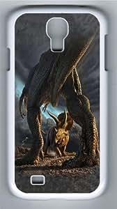 Kids Dino Battle Polycarbonate Hard Case Cover for Samsung Galaxy S4/Samsung Galaxy I9500 White wangjiang maoyi