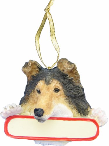 E&S Pets Sheltie Ornament Santa's Pals With Personalized Name Plate A Great Gift For Sheltie Lovers