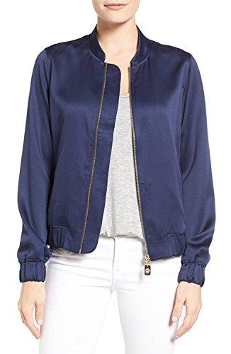 Michael Kors Petite Bomber Jacket (Light Blue, PS/Petite - Blue Michael Kors Light