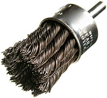- 3//4 Diameter 22,000 RPM Knotted Wire End Brush 1 Trim.014 Fill Pack of 10 Steel Felton Brushes E106