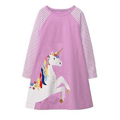 Top 10 best purple unicorn dresses for little girls 2020