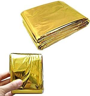 HATCHMATIC en Plein air Chaud Couverture Solaire d'urgence étanche de Survie de sécurité Mylar d'isolation Thermique Argent Chaleur Ténacité Or Double Face: Gold