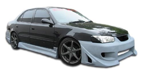 Duraflex ED-UBP-508 Blits Side Skirts Rocker Panels - 2 Piece Body Kit - Compatible For Toyota Corolla 1993-2002