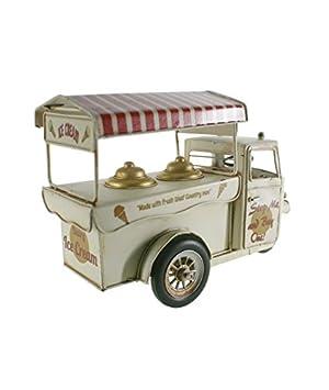 CAL FUSTER - Moto carro de los helados color blanco. Medidas: 20x30x12 cm.: Amazon.es: Hogar