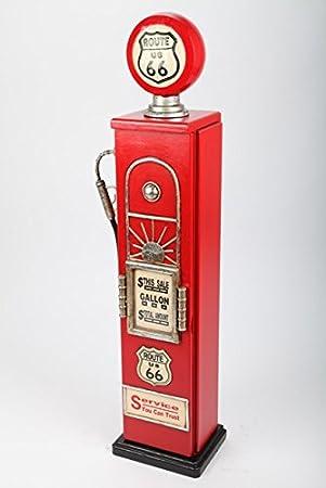 MEUBLE Range CD - pompe à essence bois rouge, style americain Retro ...