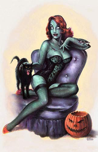 Monsterman Graphic 3 Sizes Zombie Pin-Up Girl Poster