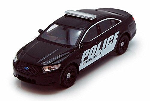 Welly Ford Police Interceptor, Black 24045 - 1/24 Scale Diecast Model Toy Car (Toy Ford Explorer Police Car)