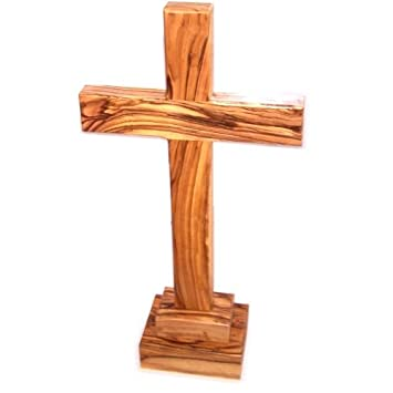 Table Olive Wood Cross   Large   2 Pieces ( 30 Cm Or 11.8 Height