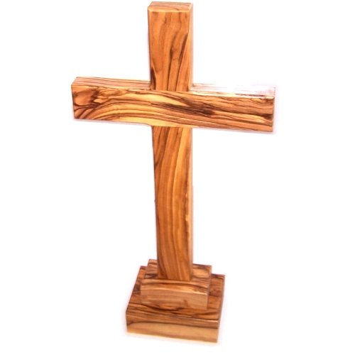 Large Olive Wood (Table Olive wood Cross - Large - 2 pieces ( 30 cm or 11.8 height - Cross is 1...)