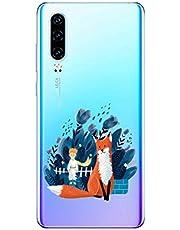 Oihxse Funda Huawei P30 Lite/Nova 4E, Ultra Delgado Transparente TPU Silicona Case Suave Claro Elegante Creativa Patrón Bumper Carcasa Anti-Arañazos Anti-Choque Protección Caso Cover (A5)