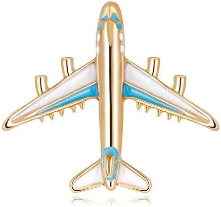 キラキラ光るファッションブローチ飛行機個性かわいいブローチ人気の創造的で有用