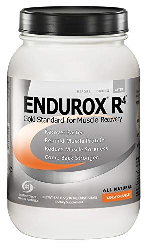 PacificHealth Endurox R4, All Natural Post Workout Recovery Drink Mix, Net Wt. 4.56 lbs, 28 Servings (Tangy Orange)