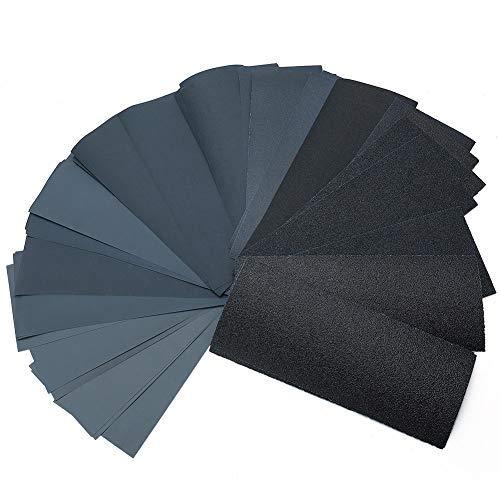 Dry Wet Sandpaper by LotFancy, 45PCS 9 x 3.6