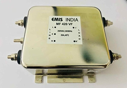 NanikTech Higher Attenuation Compact EMI Filter 250VAC, Phase: Single, Current: 6A ()