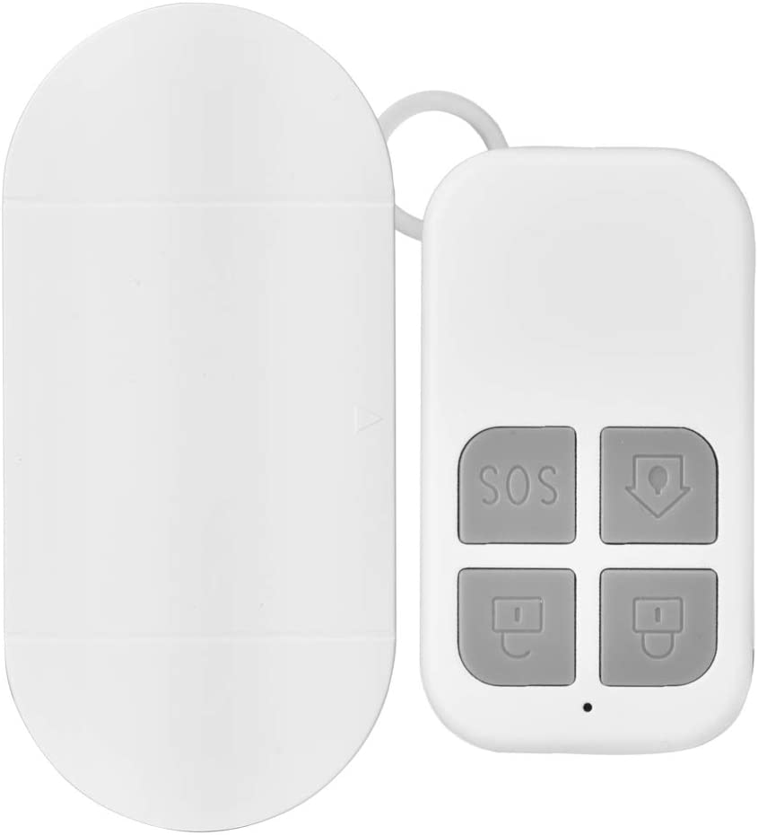 Blanc Kit Dalerte Syst/ème de S/écurit/é Dalarme de Porte sans Fil Magn/étique 130dB D/écibel /élev/é pour Alarme Anti-vol Domestique