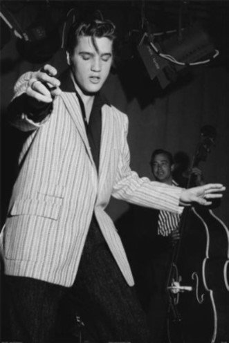 King Of Rock Elvis Presley Poster. Young Elvis Dancing!