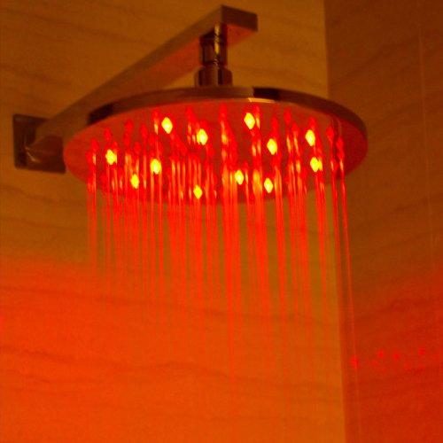 new ALFI brand  LED5006 10-Inch Round Multi Color LED Rain Shower Head