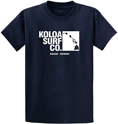 (Koloa Surf Archipelago Heavyweight Cotton Tee-L-Navy/w)