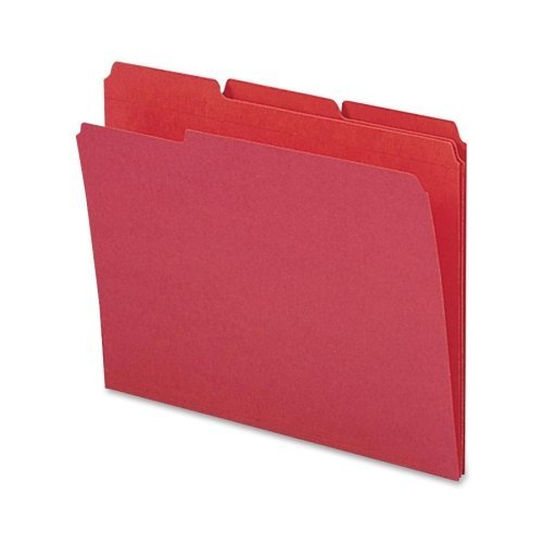 Sparco File Folder, Letter, 11 Point, 1/3-Inch Expansion, 100 per Box, Red (SPRSP21272) by Sparco