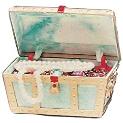 Penn Plax Aerating Action Ornament, Small Treasure Chest - Opens and Closes