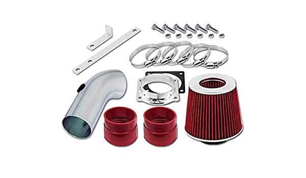 Filter 96-02 Lincoln Town Car 4.6 V8 Velocity Concepts Red Short Ram Air Intake Kit
