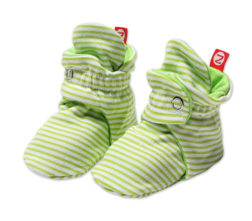 (Zutano Unixex Baby Candy Stripe Bootie, Lime, 12 Months)