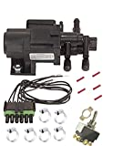 DUAL TANK SELECTOR SWITCHING VALVE KIT / CONNECTOR TOGGLE MAIN AUXILIARY SWITCH OVER W/ Instructions