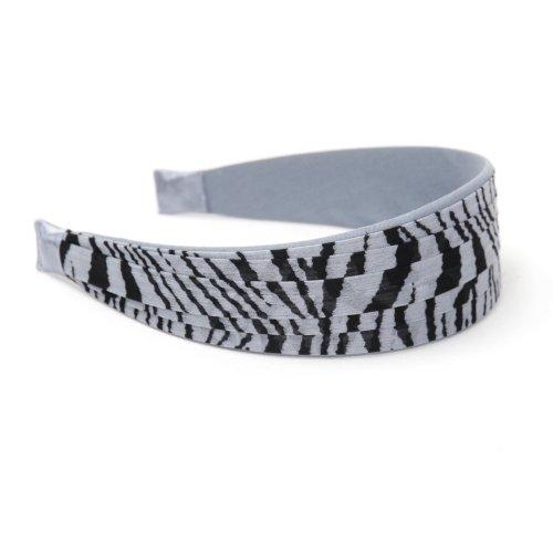 Revlon Headband Grey Zebra Striped