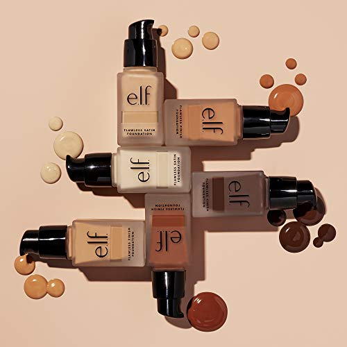 e.l.f., Flawless Finish Foundation, Lightweight, Oil-free formula, Full Coverage , Blends Naturally, Restores Uneven Skin Textures and Tones, Buff, Semi-Matte, SPF 15, All-Day Wear, 0.68 Fl Oz