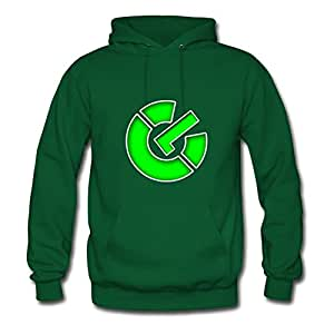Green Unofficial Vogue Power On Symbol Hoodies X-large Women Designed