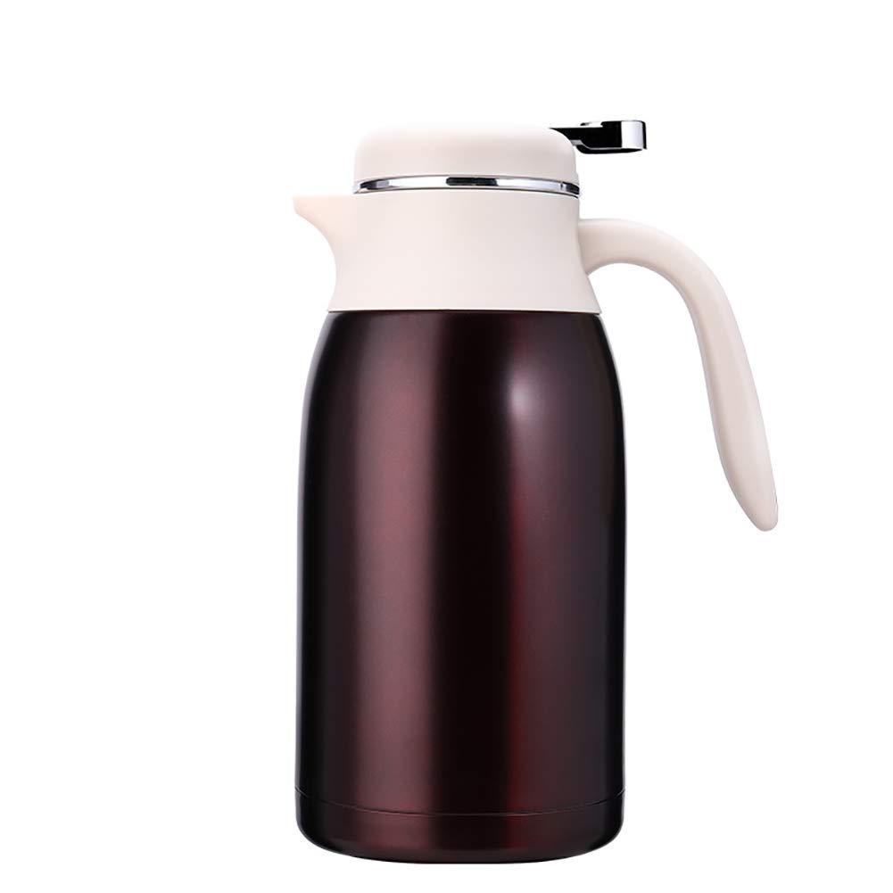 Acquisto YMYJZ Brocca di Vuoto isolata, 304 Bottiglia d'Acqua a Doppia Parete isolata Bottiglia d'Acqua caffettiera a Prova di Perdita 2L Non tossico BPA Free Coffee Tea Prezzi offerta