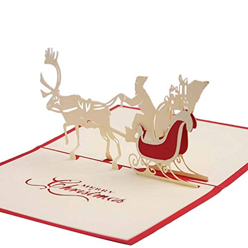 Best Quality - Cards & Invitations - Xmas Convite De Casamento Details About 3D Pop Up Card Christmas Greeting Baby Gift Holiday Happy New Year Christmas Cards - by SeedWorld - 1 PCs -