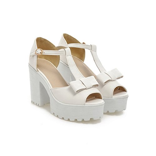 European 1TO9 White Sandals Material High Style Soft Heels Girls qOgnTOt