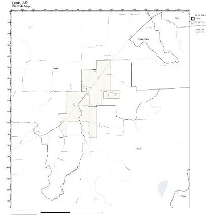 Lynn Zip Code Map.Amazon Com Zip Code Wall Map Of Lynn Ar Zip Code Map Not Laminated