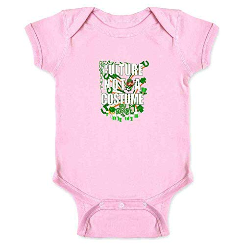 Culture Not A Costume St Patrick's Day Pink 12M Infant Bodysuit]()