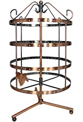 92 pairs Copper Color Rotating Earring Holder / Earring Tree / Earring Organizer / Earring Stand / Earring Display