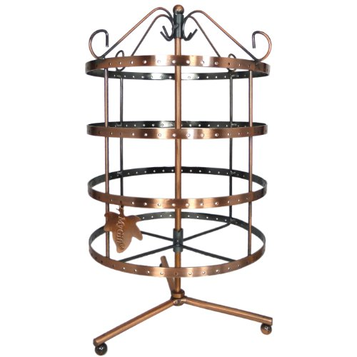 Copper Rotating Earring Organizer Display