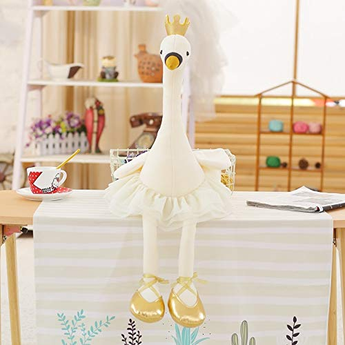 Stuffed & Plush Animals - 1pc 35cm Swan Plush Toys Cute Flamingo Doll Stuffed Soft Animal Doll Ballet Swan with Crown Baby Kids Appease Toy Gift for Girl - Girls -