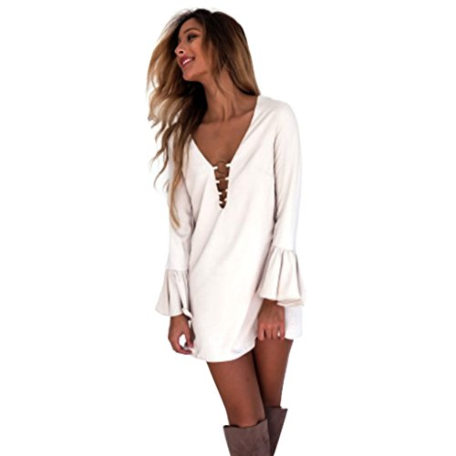wensltd-seasonal-clearance-women-deep-neck-sexy-mini-dres-cocktail-party-dress-m-white