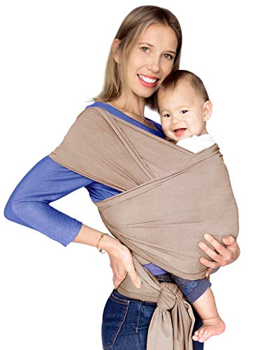 a6c1bc0d054 Mumma Baby Carrier Wrap Sling Swaddles Infant and Newborn in Peruvian  Cotton - Grey with Front