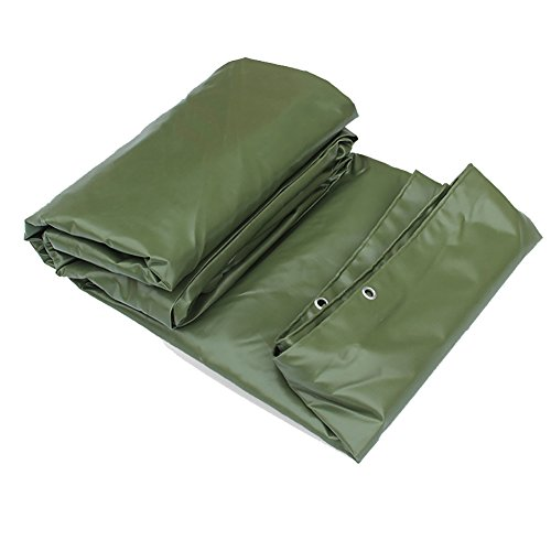 - QIANDING Zhangpeng Tent Reversible Waterproof Truck Tarpaulin Heavy Duty Picnic Mat Floor Covering Machine Fishing Insulation Sun Visor Thick Canvas Rain Cloth Green 650G / M2 (Size : 33m)