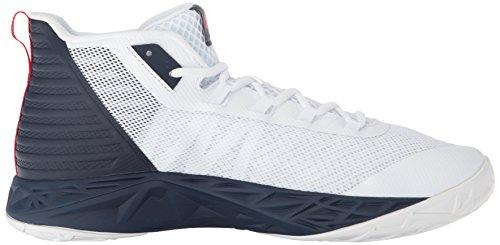 Para Navy De Armour Blanco Midnight Hombre Ua 102 Mid white Zapatos Red Baloncesto Under Jet q0gRnxwn7