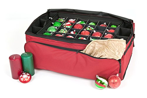 Santa's Bags 3-Tray Christmas Ornament Storage Bag